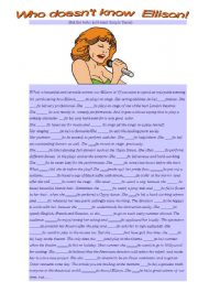 English Worksheets: Who doesn�t know Ellison!