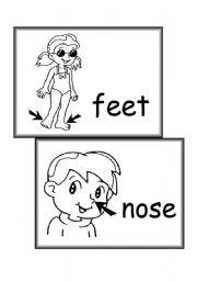 English Worksheets: body parts - part 3