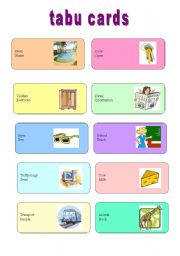 English Worksheet: TABU CARDS (2/3)
