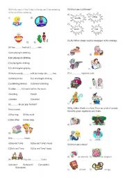 English Worksheet: 6th grade exam part2