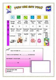 English Worksheets: A fun gift