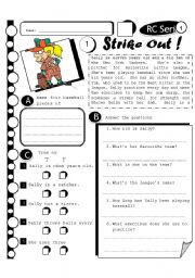 English Worksheets: RC Series 12 - Strike Out (Fully Editable + Answer Key)