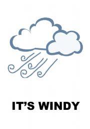 English Worksheet: Weather- flashcards