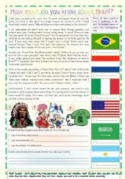 How much do you know about Brazil? - comprehension - 3 pages - keys included (updated - fully editable)