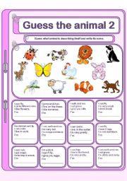 English Worksheets: Guess the animal 2