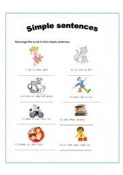 English worksheets: Simple sentences