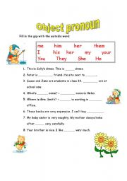 English worksheets: object pronouns worksheets, page 23