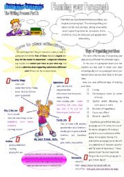 English Worksheet: The Writing Process Part 2: Planning your Paragraph (2 pages)