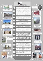 English Worksheet: British landmarks