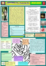 English Worksheet: EVERYTHING I DO (I DO IT FOR YOU) - BRYAN ADAMS -  PART 01