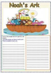 English Worksheet: Noah�s Ark ( animals )