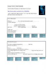 English Worksheet: Avatar (James Cameron 2009) - FILM TRAILER - EXERCISE