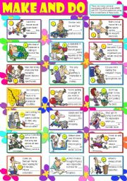 English worksheet: MAKE AND DO