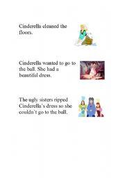 English Worksheet: Cinderella Story Sequencing