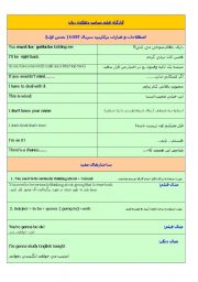 English Worksheets: Useful expressions of Lost series with the persian translation
