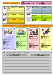 English Worksheet: Comparison of adjectives