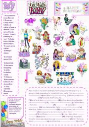 English Worksheet: What are they going to do  for Jane�s birthday Party?(+ Key)