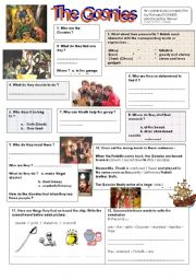 English Worksheets: The Goonies