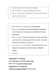 English Worksheets: ULYSSES A LITTLE HELP