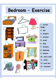 English Worksheet: Bedroom - House