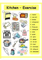 English Worksheet: Kitchen - House