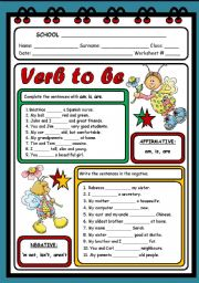 VERB TO BE ( 2 PAGES )