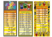 English Worksheets: Bookmarks - Numbers
