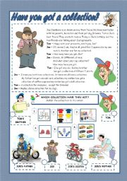 English Worksheets: HAVE YOU GOT A COLLECTION?