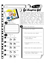 English Worksheets: RC Series 15 - Go Eagles Go (Fully Editable + Answer Key)