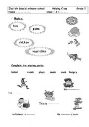 English Worksheets: helping class