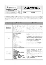 English Worksheets: Connectors worksheet