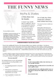 English Worksheets: 6 Funny news Issue