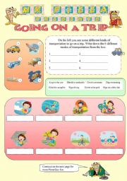 English Worksheet: Mr. Pizza´s Going on a trip