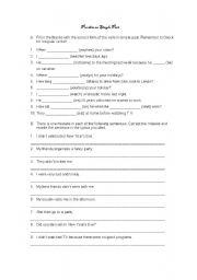 English worksheet: Practice on Simple Past