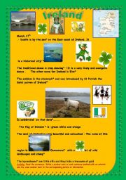 English Worksheet:  Ireland: The emerald island