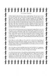 English Worksheets: A Comic Genius