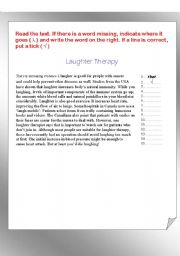 English Worksheets: Editing