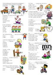 English Worksheets: exam for 6th graders part 2