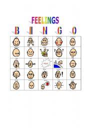 Feelings bingo game simple bingo game to teach awareness of feelings