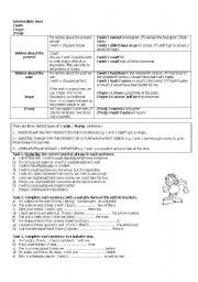 English Worksheet: Wish, If only