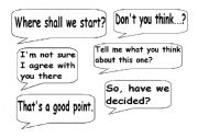 English Worksheets: USEFUL EXPRESSIONS FOR DECISION MAKING