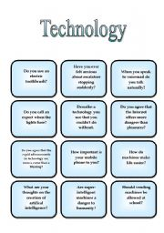 English Worksheets: Speaking Cards - Technology