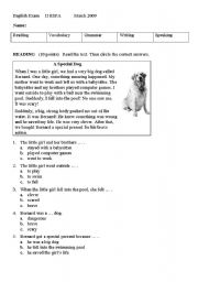 English Worksheet: second test second term II adults