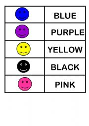 English Worksheet: Colors memory game part 1