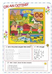 English Worksheets: ANIMALS - B&W