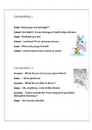 daily conversations and dialogues - ESL worksheet by fafauu