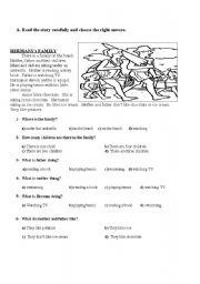 English Worksheets: readin