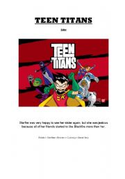 English Worksheets: Movie Session - TEEN TITANS