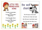 English Worksheet: Song and Chant. Little Red Riding Hood