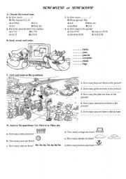 English Worksheets: how much/how many